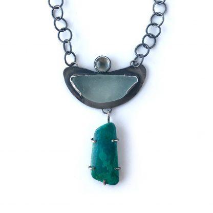 Rustic Beach Seaglass Necklace